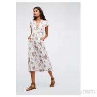 '40s Printed Midi Dress   40415390
