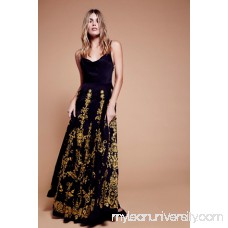 Cowl Embroidered Maxi Dress 41247370