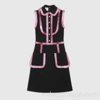 Jersey shirtdress with lurex trim -  Women's Dresses 467505X5R171048  467505 X5R17 1048