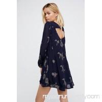 Midnight Blue Embroidered Austin Dress   33042250