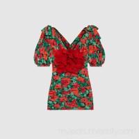 Poppy flower print top -  Women's Dresses 472103ZIE116160  472103 ZIE11 6160