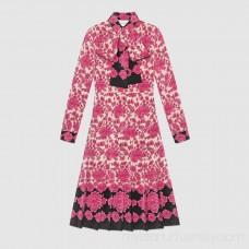 Porcelain Flower print silk dress -  Women's Dresses 463367ZHX795263  463367 ZHX79 5263