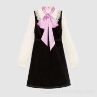 Velvet dress with bow -  Women's Dresses 441556ZHV011861  441556 ZHV01 1861