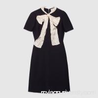 Wool silk dress with bow -  Women's Dresses 469771ZHM881303  469771 ZHM88 1303