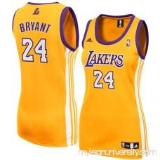 adidas Kobe Bryant Los Angeles Lakers Women's Replica Jersey - Gold -   761815