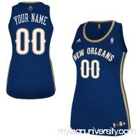 adidas New Orleans Pelicans Women's Custom Replica Road Jersey - Navy Blue - 1445664