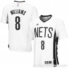 Men's adidas Deron Williams Brooklyn Nets 2014-15 New Swingman Pride Jersey - White - 1770919