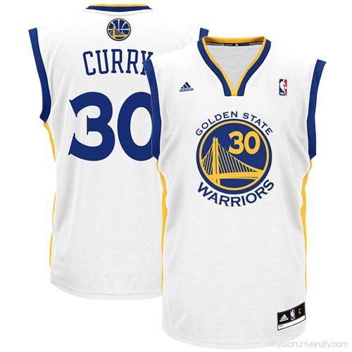 ee0b8ba1d Men s adidas Golden State Warriors Stephen Curry White Home Replica Jersey  - 491928