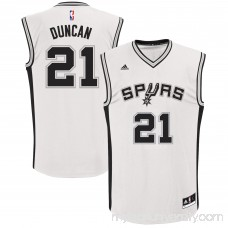 Men's adidas San Antonio Spurs Tim Duncan White Home Replica Jersey -   491913