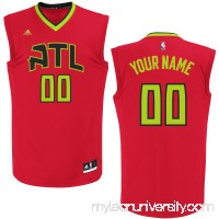 Men's Atlanta Hawks adidas Red Custom Alternate Replica Jersey -   2253931