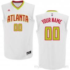 Men's Atlanta Hawks adidas White Custom Home Replica Jersey - 2202276