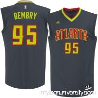 Men's Atlanta Hawks DeAndre Bembry adidas Black Road Replica Jersey -   2622768