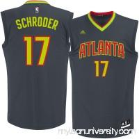 Men's Atlanta Hawks Dennis Schroder adidas Black Replica Jersey -   2290095