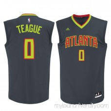 Men's Atlanta Hawks Jeff Teague adidas Gray Replica Jersey - 2172575