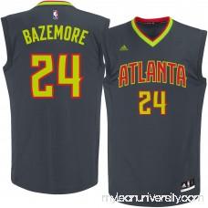Men's Atlanta Hawks Kent Bazemore adidas Black Replica Jersey - 2290088