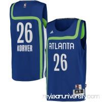 Men's Atlanta Hawks Kyle Korver adidas Royal Hardwood Classics Swingman Player Jersey -   2446004