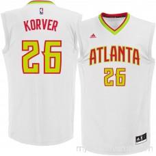 Men's Atlanta Hawks Kyle Korver adidas White Replica Basketball Jersey - 2259574