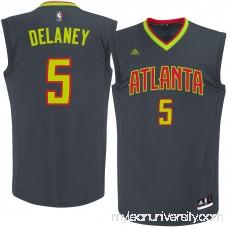 Men's Atlanta Hawks Malcolm Delaney adidas Black Road Replica Jersey - 2622769