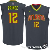 Men's Atlanta Hawks Taurean Prince adidas Black Road Replica Jersey -   2622771