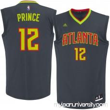 Men's Atlanta Hawks Taurean Prince adidas Black Road Replica Jersey - 2622771