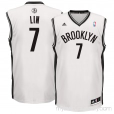 Men's Brooklyn Nets Jeremy Lin adidas White Home Replica Jersey - 2601020