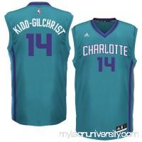 Men's Charlotte Hornets Michael Kidd-Gilchrist adidas Teal Replica Jersey -   1782705