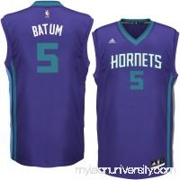 Men's Charlotte Hornets Nicolas Batum adidas Purple Replica Jersey -   2282185