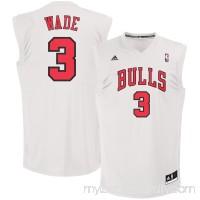 Men's Chicago Bulls Dwyane Wade adidas White Fashion Replica Jersey -   2526995