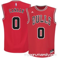 Men's Chicago Bulls Isaiah Canaan adidas Red Road Replica Jersey - 2666162