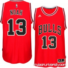 Men's Chicago Bulls Joakim Noah adidas Red Player Swingman Road Jersey - 1817169