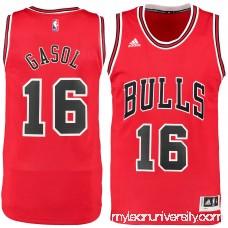 Men's Chicago Bulls Pau Gasol adidas Red Road Swingman Jersey - 2129199