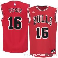 Men's Chicago Bulls Paul Zipser adidas Red Road Replica Jersey -   2621525