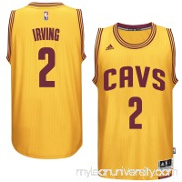 Men's Cleveland Cavaliers Kyrie Irving adidas Gold Player Swingman Alternate Jersey -   1952035