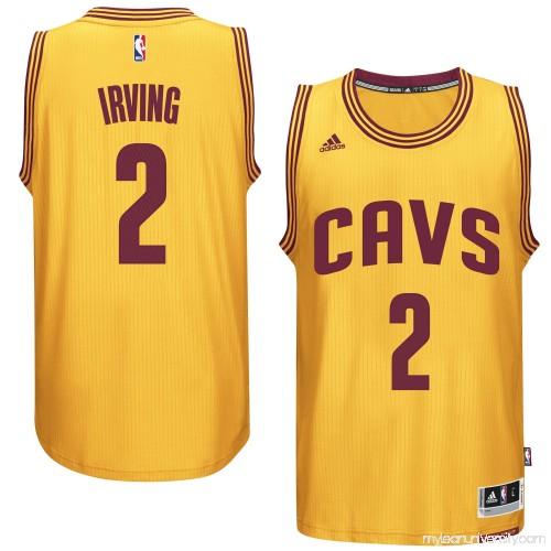 a0d83caeb Men s Cleveland Cavaliers Kyrie Irving adidas Gold Player Swingman  Alternate Jersey - 1952035