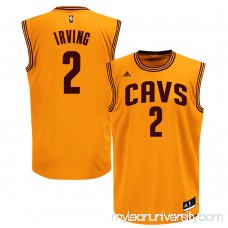 Men's Cleveland Cavaliers Kyrie Irving adidas Gold Replica Alternate Jersey -   878598