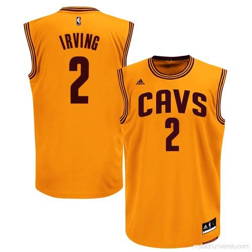 0b444cd3b33 Men's Cleveland Cavaliers Kyrie Irving adidas Gold Replica Alternate Jersey  - 878598