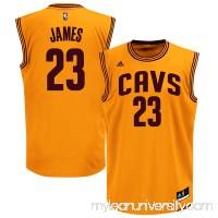 Men's Cleveland Cavaliers LeBron James adidas Gold Alternate Replica Jersey -   1849147