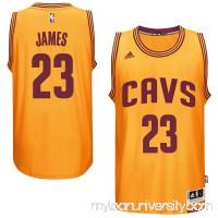 Men's Cleveland Cavaliers LeBron James adidas Gold Player Swingman Alternate Jersey -   1852490