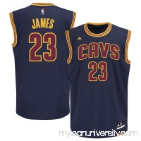 Men's Cleveland Cavaliers LeBron James adidas Navy Blue Alternate Replica Jersey -   1993196
