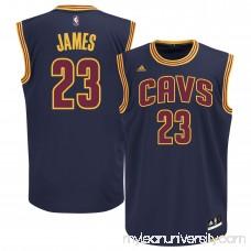 Men's Cleveland Cavaliers LeBron James adidas Navy Blue Alternate Replica Jersey - 1993196