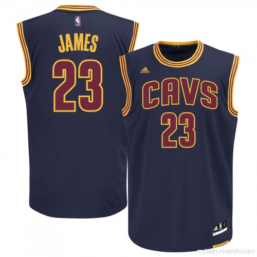 ea54496fff54 Men s Cleveland Cavaliers LeBron James adidas Navy Blue Alternate Replica  Jersey - 1993196