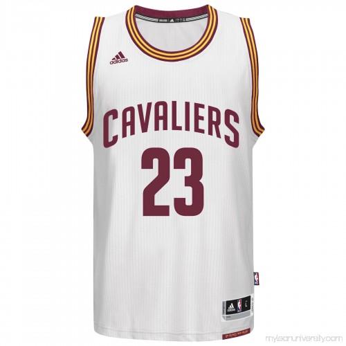pretty nice 94616 b60d3 Men's Cleveland Cavaliers LeBron James adidas White Player ...