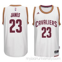 Men's Cleveland Cavaliers LeBron James adidas White Player Swingman Home Jersey -   1852491