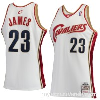Men's Cleveland Cavaliers LeBron James Mitchell & Ness White Hardwood Classics Rookie Authentic Jersey -   2601088
