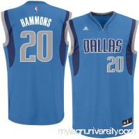 Men's Dallas Mavericks A.J. Hammons adidas Royal Road Replica Jersey - 2622767