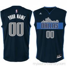Men's Dallas Mavericks adidas Navy Alternate Custom Replica Jersey -   2280947