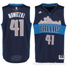 Men's Dallas Mavericks Dirk Nowitzki adidas Navy Swingman Jersey - 2187057
