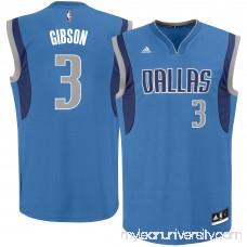 Men's Dallas Mavericks Jonathan Gibson adidas Royal Team Color Replica Jersey - 2666164