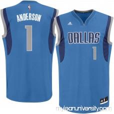Men's Dallas Mavericks Justin Anderson adidas Royal Replica Jersey - 2329319