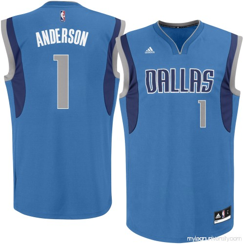 406522657357 Men s Dallas Mavericks Justin Anderson adidas Royal Replica Jersey - 2329319